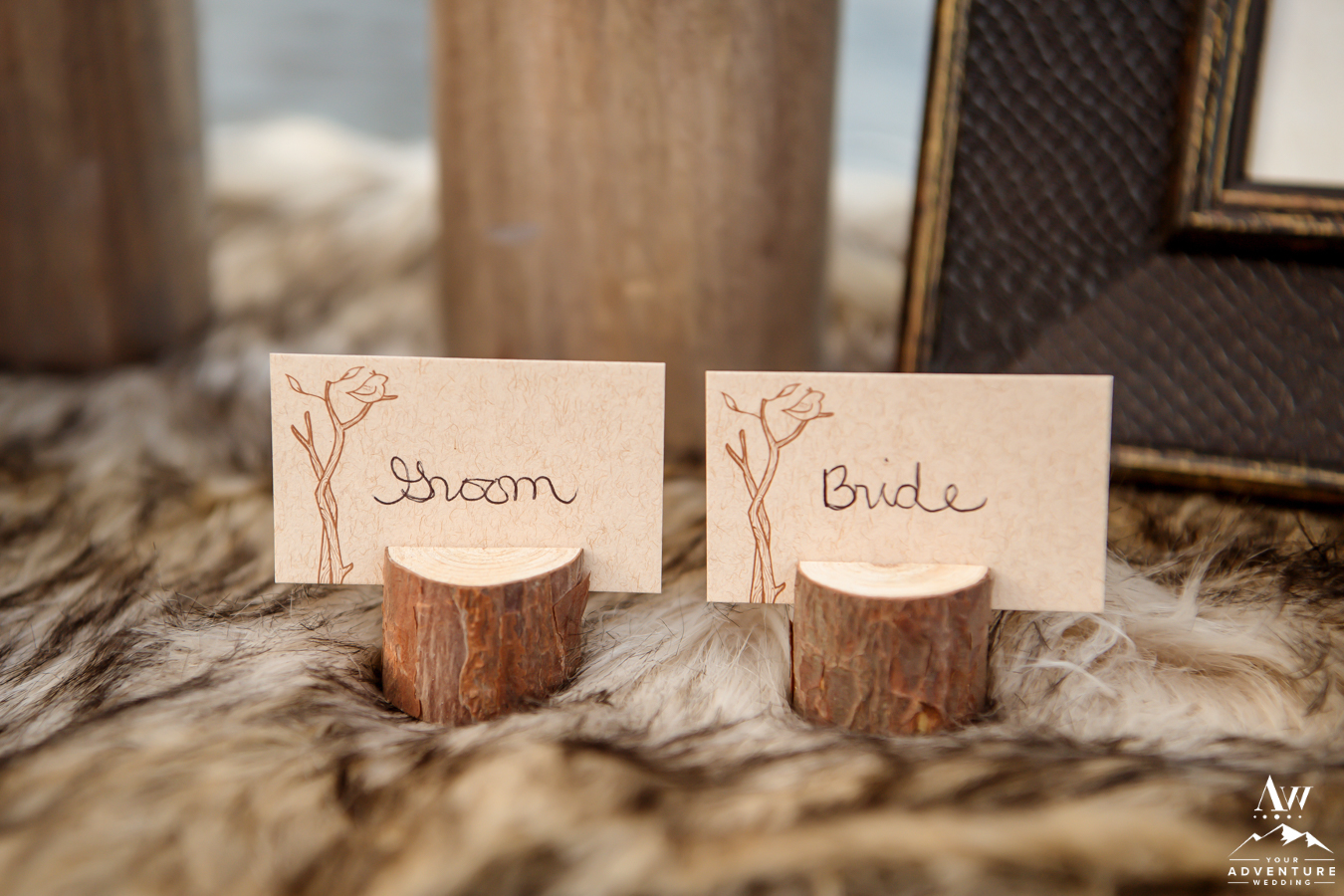 Wood Place Cards for Lofoten Wedding