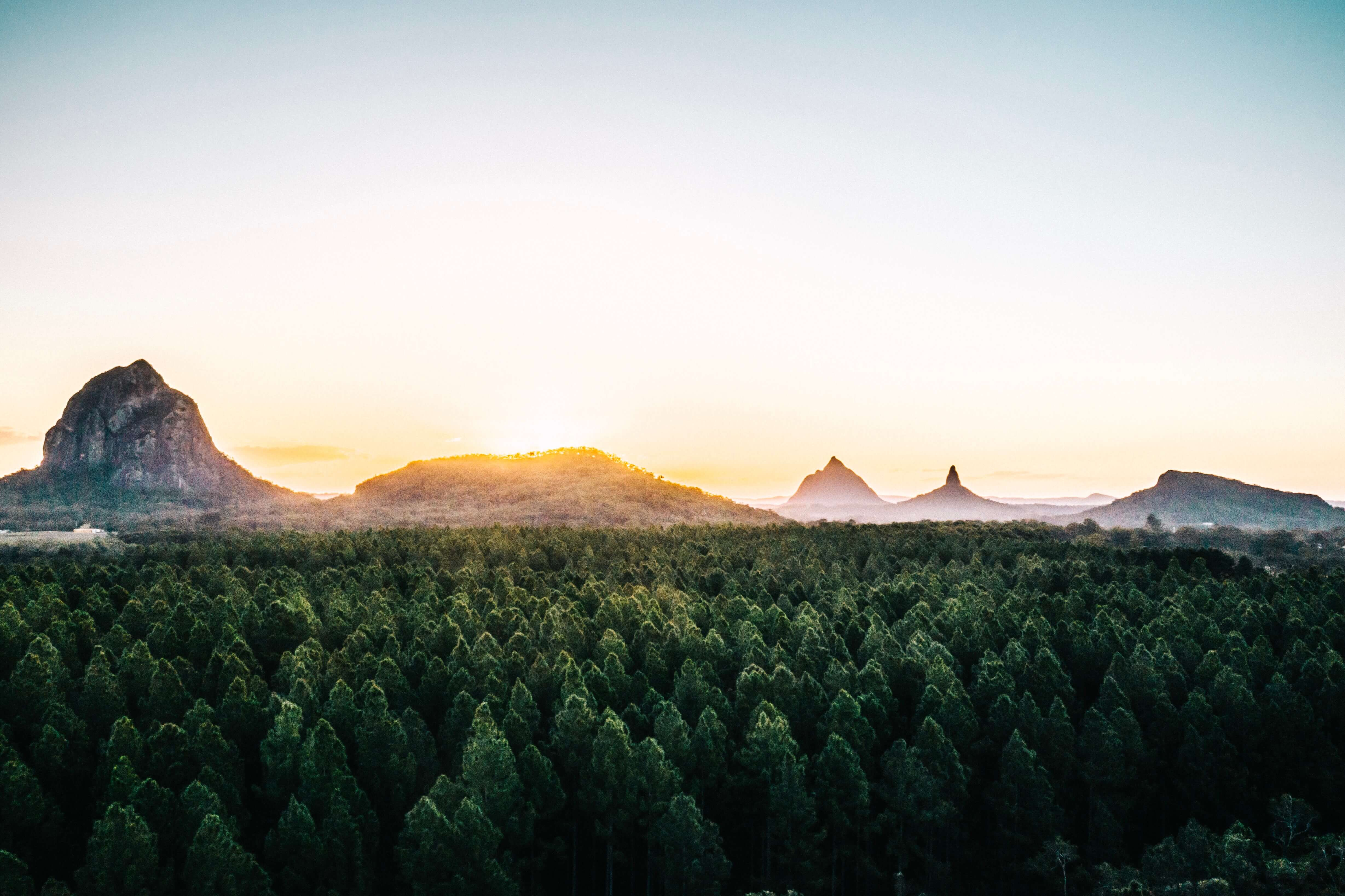 Glass House Mountains Wedding Location Sunrise