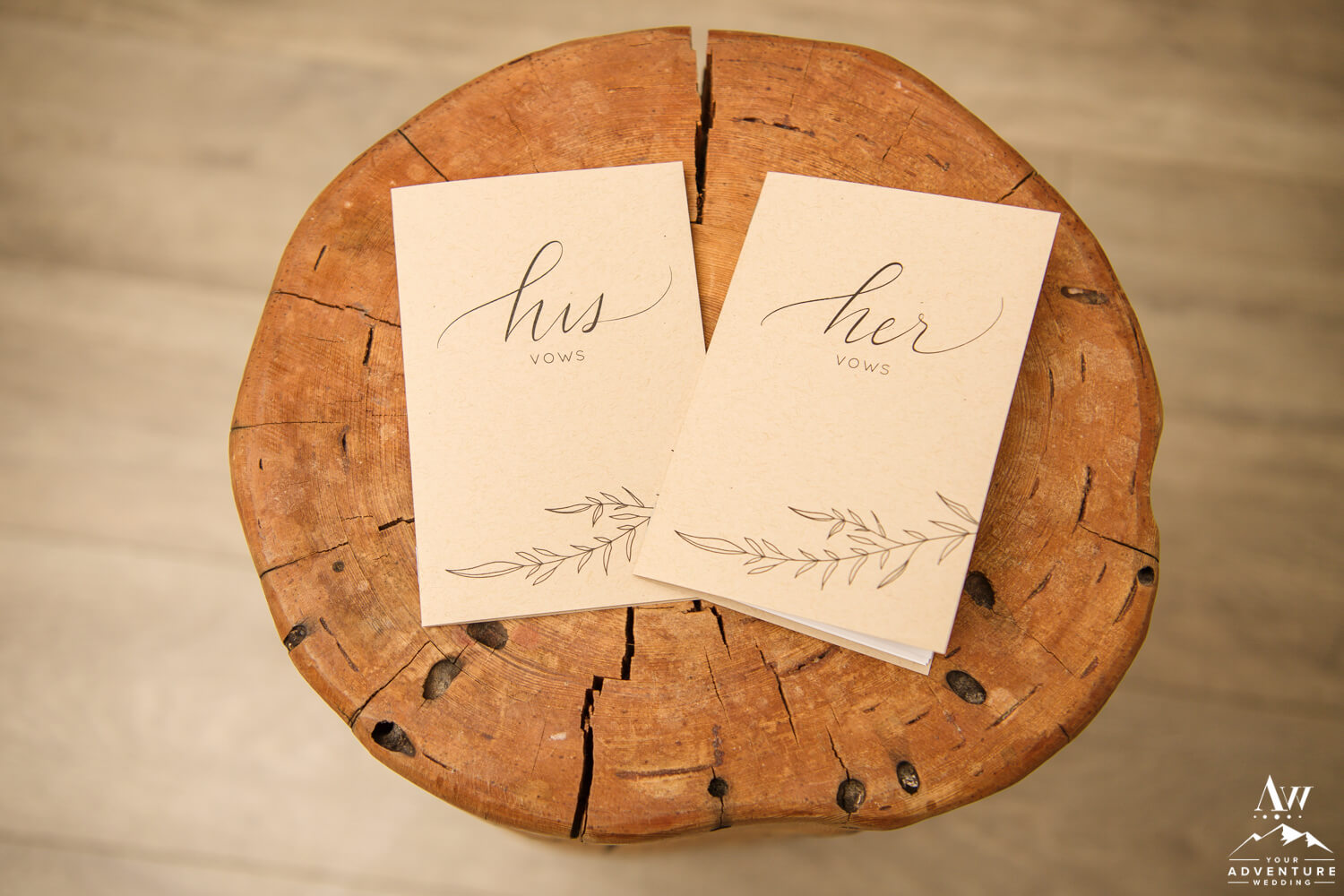 Vow Books for Adventure Elopement