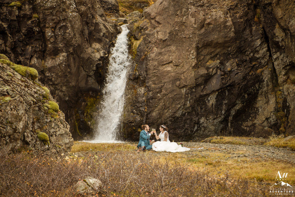 Picnic during Hiking Elopement in Iceland