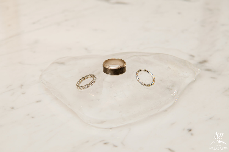 Antarctica Wedding rings on Ice