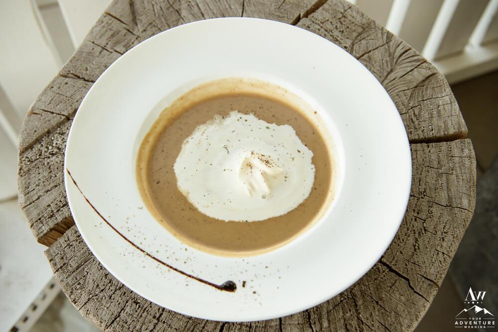 Mushroom Soup for Isle of Skye Wedding