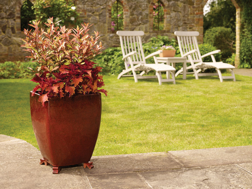Tall Red Planters