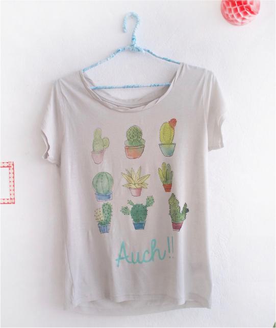 camiseta con cactus