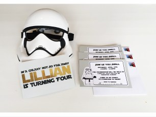 LEGO Star Wars Storm Trooper Birthday Invitations Invites