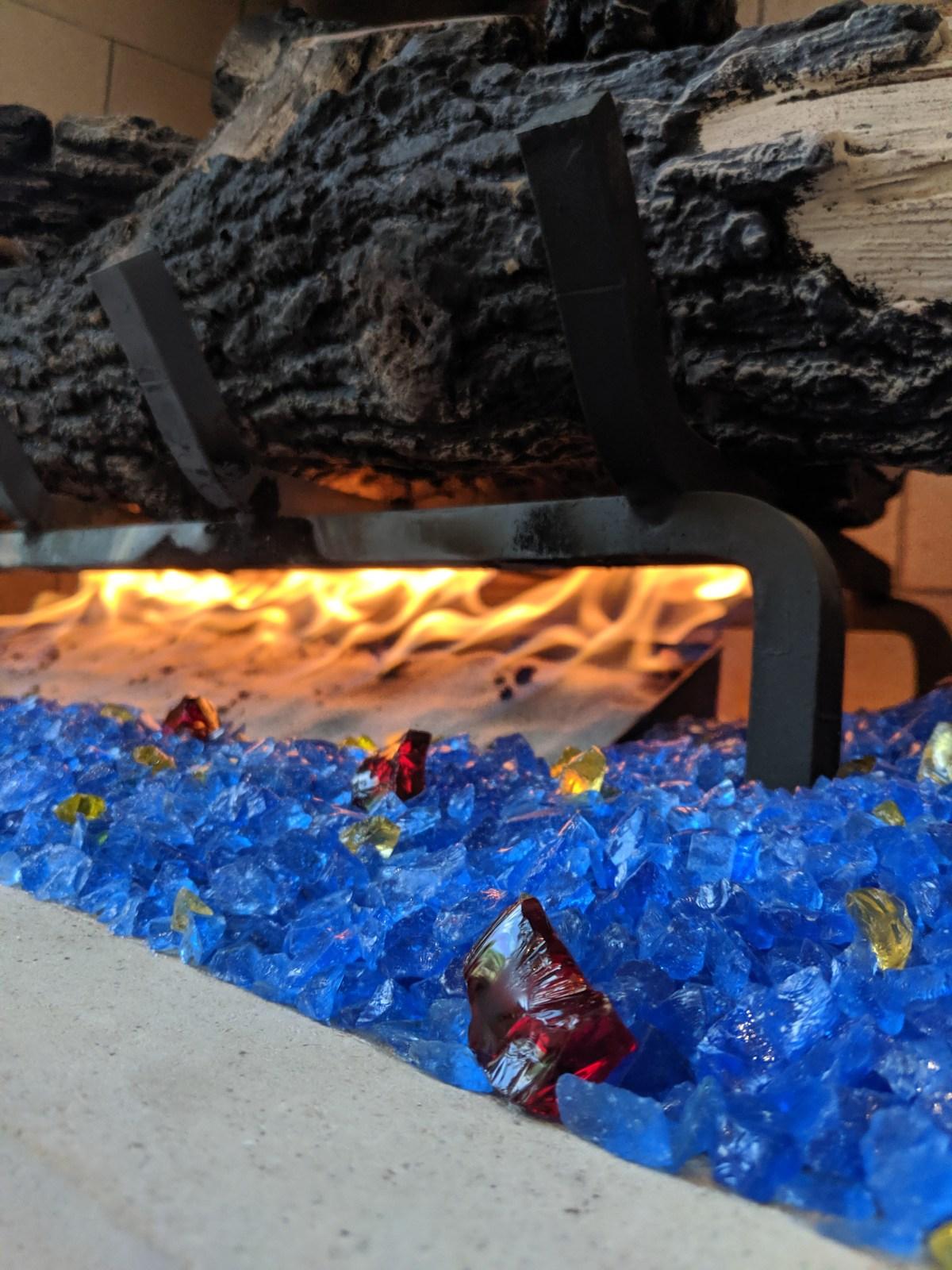 Glass Rocks Fireplace