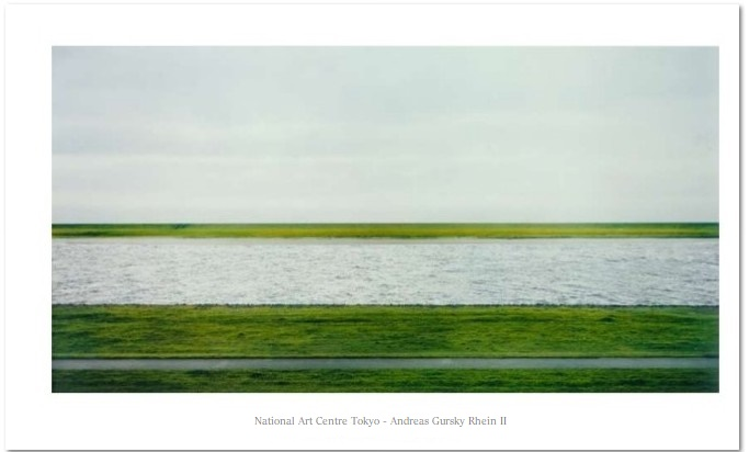 Andreas Gursky Poster, Rhein II, National Art Centre Tokyo