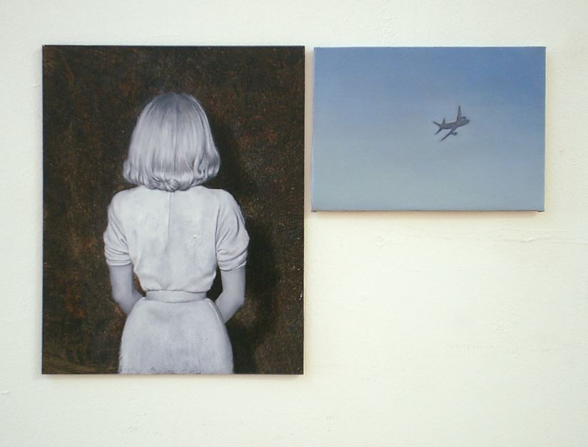 "Jonathan Alibone: ""I Put My Trust in Science, Not Miracles"", 2011, Öl und Acrylfarbe auf Leinwand, UNIKAT, signiert, 38 x 25 cm."