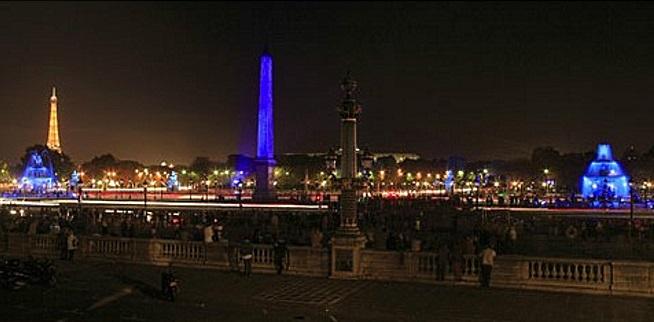 Hommage a Yves Klein Paris Place de la Concorde, Oct 6 2006