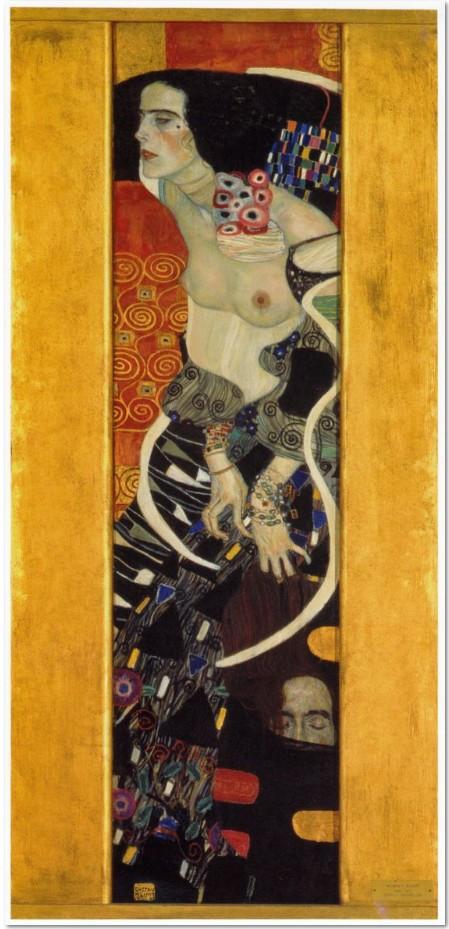 Gustav Klimt Judith II (Salome), 1909, Öl auf Leinwand, Cà Pesaro Galleria Internazionale d'Arte Moderna, Musei Civici Veneziani, Venedig.