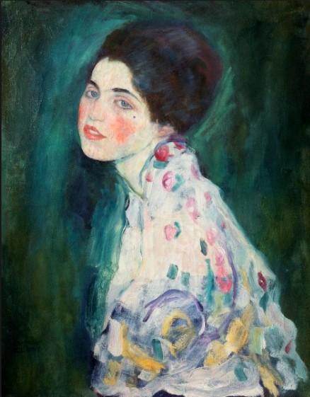 Gustav Klimt, Portrait eines jungen Mädchens, 1895-96
