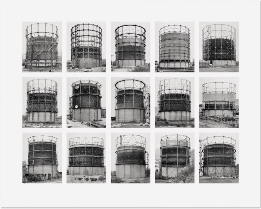 "Bernd und Hilla Becher Gasbehälter (Gas Tanks) 2009 Image VII from Typologies Digital pigment print (Ditone) on photo paper, 90 x 112 cm (35½ x 44""). Edition of 40, signed ""B. + H. Becher"" on label verso by H. Becher, numbered."