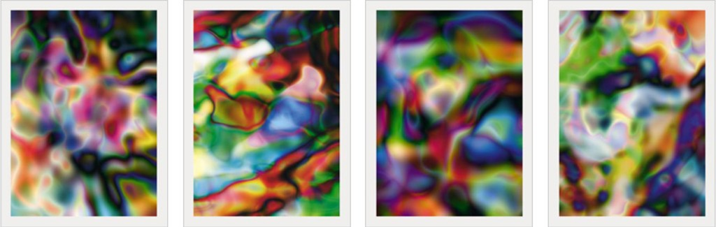 Thomas Ruff Substrate 2003 Suite of 4 ditone prints on 250 g satin paper, mounted on aluminum board (Dibond), each print 100 x 75 cm (39½ x 29½), signed and numbered. Edition of 45.