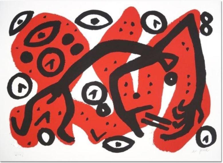 A.R. Penck: 'Perry Rhodan 3', 1996, Farbserigrafie,signiert und nummeriert,lim. Auflage: 40 + e.a., Format:70 x 100 cm