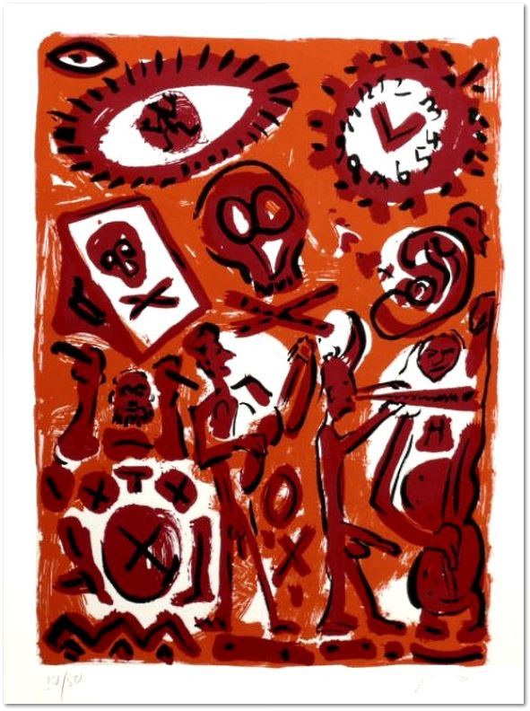 A. R. Penck - Session in Orange