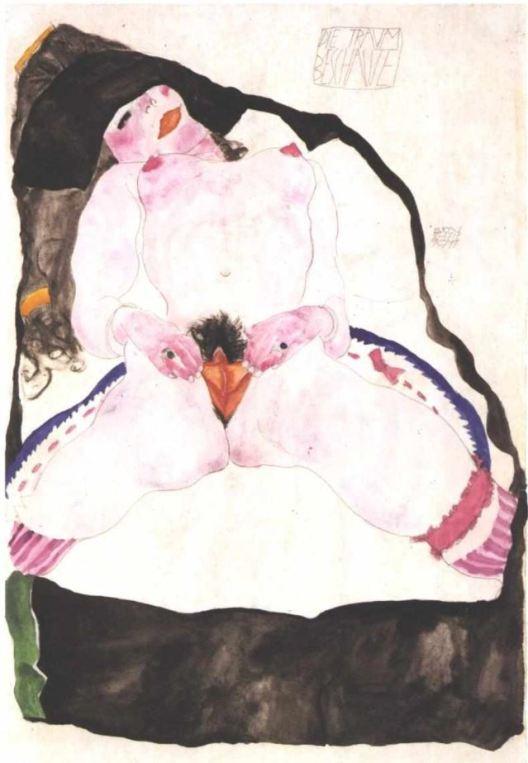 Egon Schiele, Traumbeschaute, 1911
