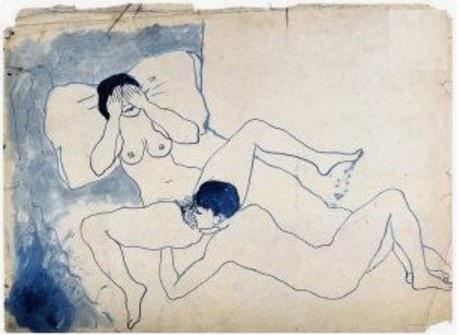 """Pablo Picasso: """"Scène érotique"""", Barcelona~Paris, 1902"""
