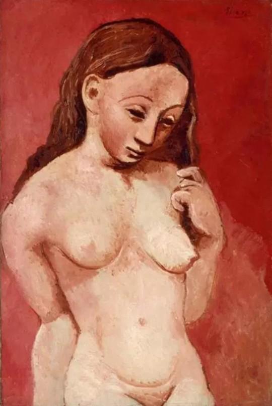 Pablo Picasso. Nu sur fond rouge 1905-1906
