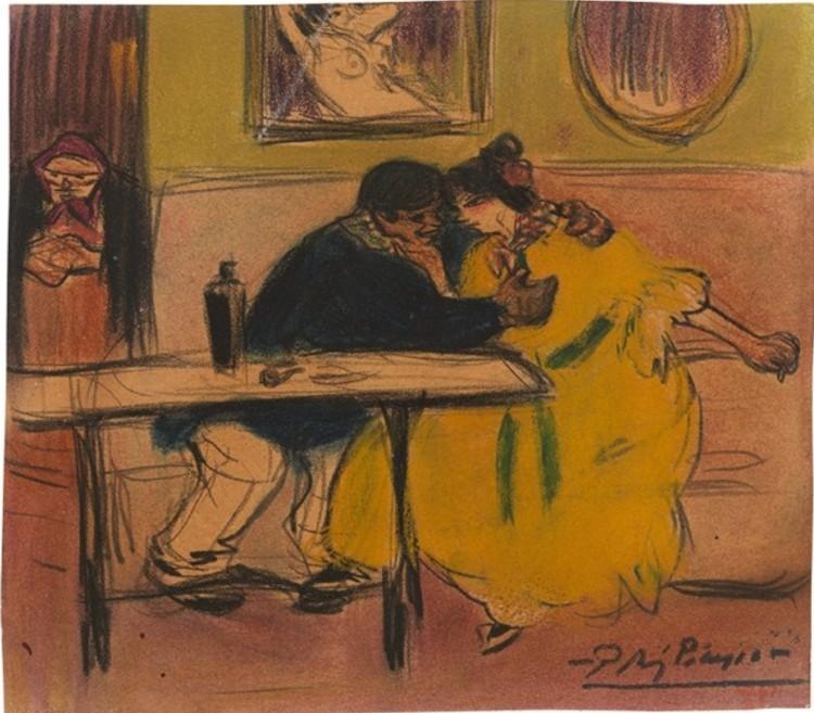 Pablo Picasso. The divan. c. 1899, Museu Picasso, Barcelona ©Successió Picasso.VEGAP. Barcelona 2017