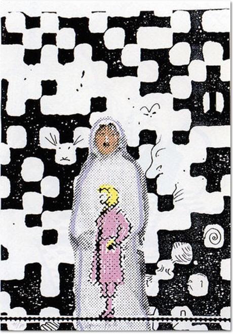 Sigmar Polke - Hallucie, 1998, Original-Farboffset-Lithografie und Farbserigrafie, 1998. Auflage: 70 Exemplare auf Karton, handsigniert, nummeriert und datiert. Blattformat 70 x 50 cm