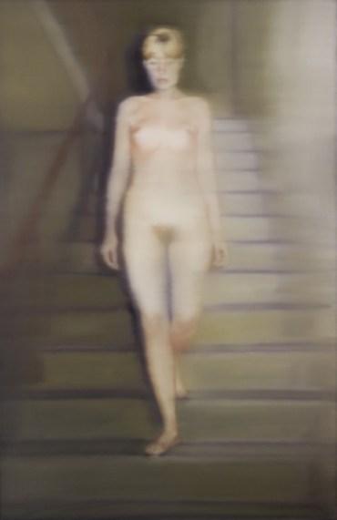 """Gerhard Richter: """"Ema (Akt auf einer Treppe)"""", 1966, Öl auf Leinwand, 200 cm x 130 cm, Werkverzeichnis: 134. Museum Ludwig, Köln, Deutschland. © Gerhard Richter"""
