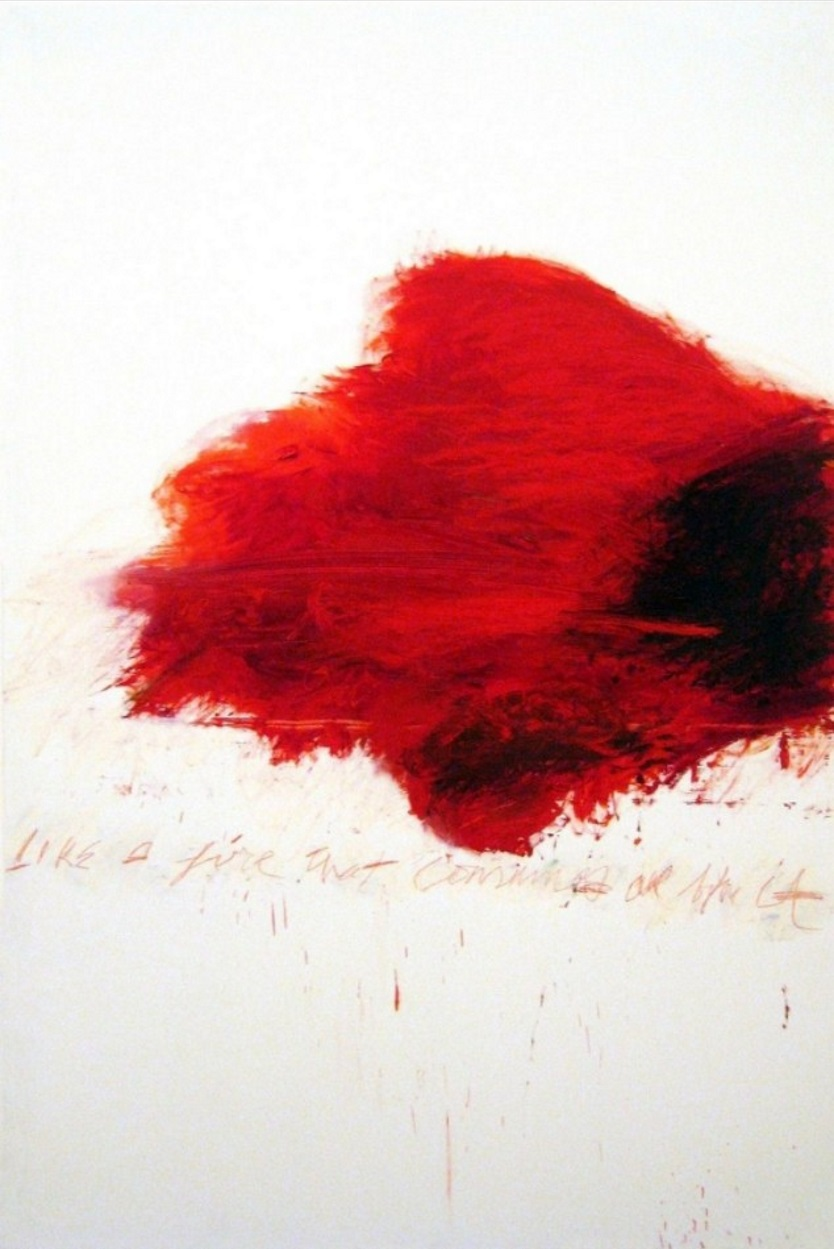 """Cy Twombly: """"The Fire"""", 1985, Lithograph on Arches paper, size 38 x 28 cm, numbered in pencil, edition of 150"""