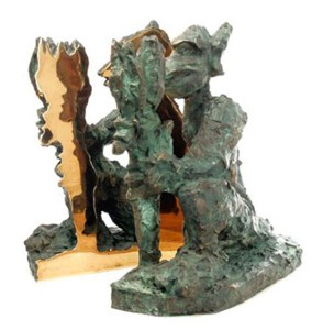 Jörg Immendorff: 'Alter Ego, 1995, Sculpture, bronze, two-pieces, size: 26 cm x 36.6 cm x 38.5 cm, weight approx. 28 kg, edition of 980.