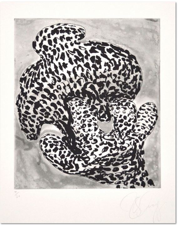 Tony Cragg, Forminifera 1, 2000 - Aquatinte au sucre et vernis mou (softground etching) , Size: 53 x 39,5 cm - 30 épreuves