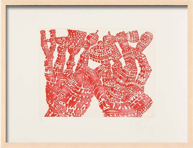 "Tony Cragg: ""Manipulation 1"", 2007, Lithograph on hand made paper, signed and numbered, edition of 24, size: 50 x 66 cm, framed: 53 x 69 cm"
