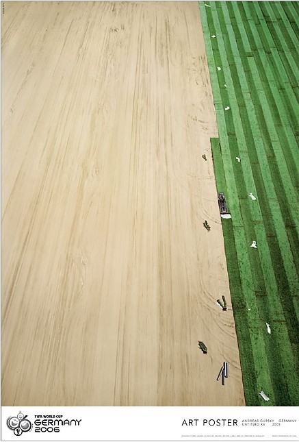 "Andreas Gursky: ""Untitled XV (FiFA World Cup)"", 2005, Original-Poster FiFA Worldcup 2005, limited editionof 800, handsigned by Andreas Gursky and numbered 462/800, size: 97 x 66 cm"