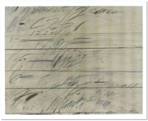 Cy Twombly Roman Notes 1971 Price on request 69,7 x 87 cm / 27.4 x 34.3 in