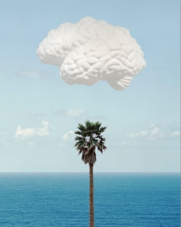 "John Baldessari:""Brain/Cloud (With Seascape and Palm Tree)"", 2009, Inkjet on ""Hahnemühle Photo Rag 308 gsm Paper. size: 74 x 58 cm, edition of 145, signed, dated, numbered."