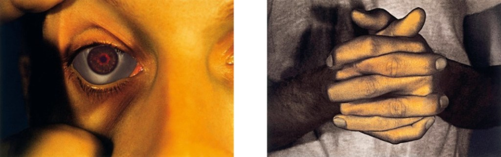 """Bruce Nauman - Opened Eye and Hands Only 1968-2006 from Infrared Outtakes 2 Inkjet prints, 50,8 x 71,1 cm (20 x 28""""). Edition of 60, signed and numbered ea."""
