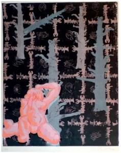 Immendorff, Jörg Ohne Titel AT – roter Mann [3003] 2001, Farbserigraphie Auflage 100, sign. und num. 90 x 70 cm auf 107 x 78,5 cm