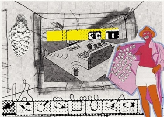 Sigmar Polke - Filmvorführung (Movie screening), 1998, Seriegraphie, signed and numbered, size: 19 7/10 × 27 3/5 in - 50 × 70 cm. Edition of 70