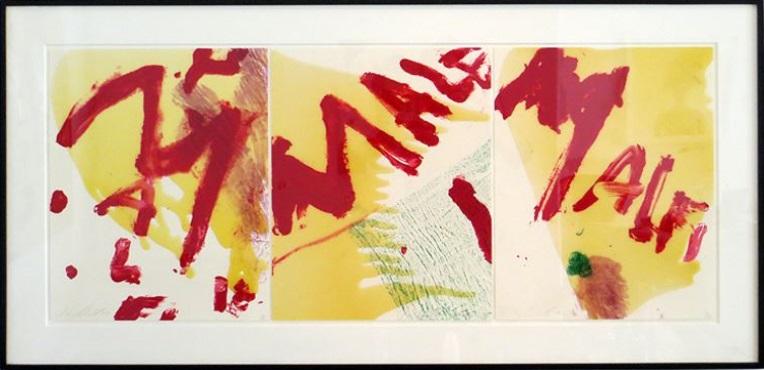 Julian Schnabel:'Malfi', 1998, three silkscreens