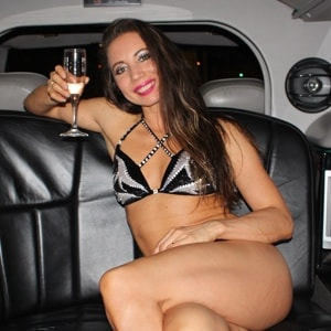 Stripper in de limo