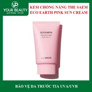 Kem Chống Nắng The SAEM Eco Earth Pink Sun Cream