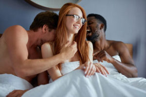 three in bed
