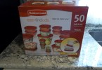 Large box of 50 piece Rubbermaid easy find lids.