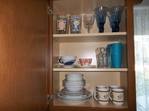 This is my dish cabinet arranged but without the organizer.