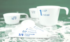 Picture of measuring cups for proper measuring.