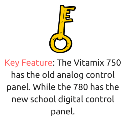 vitamix 750 vs 780 key feature - control panel