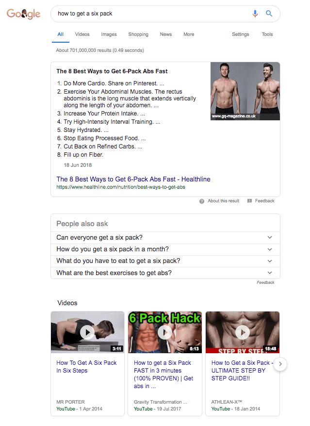 Search Rich Results Example