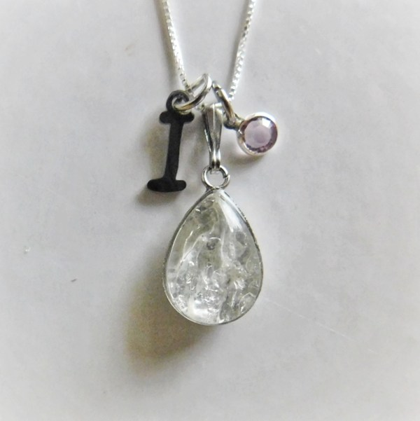 drop classic necklace silver