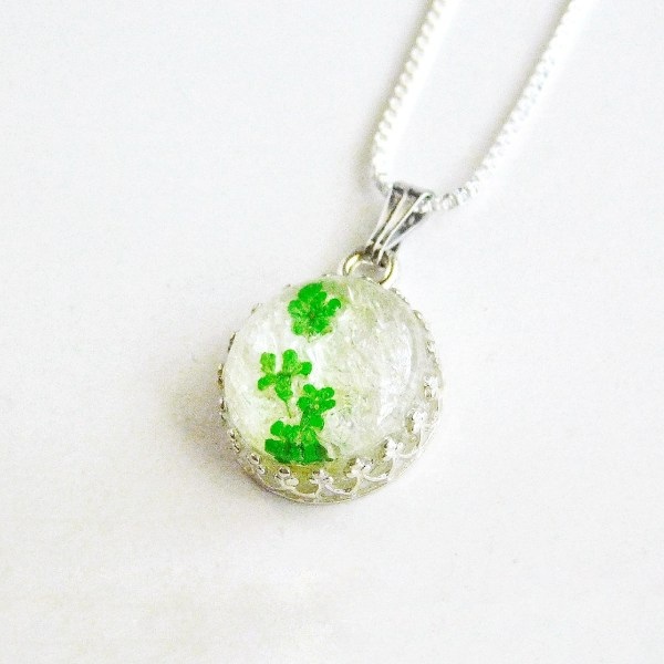 Sterling Silver Ice Queen Round Crown Breast Milk Necklace