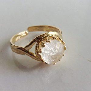 Gold Crown Adjustable Breast Milk Ring