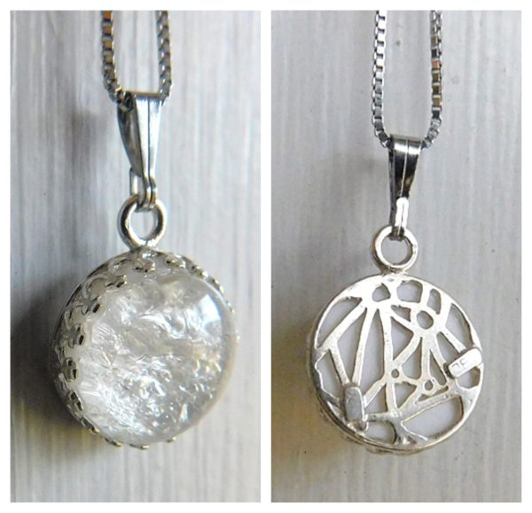 sterling silver round crown breast milk necklace jewelry