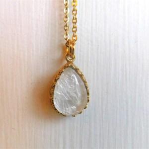 Gold Drop Crown Breast Milk Necklace Pendant