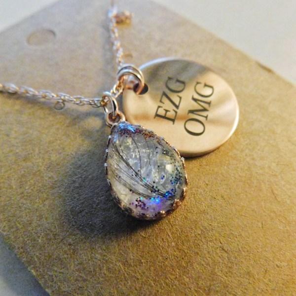 rose gold crown drop necklace